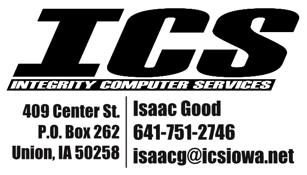 Integrity Computer Services - Isaac Good, 409 Center St, P.O. Box 262, Union, IA 50258